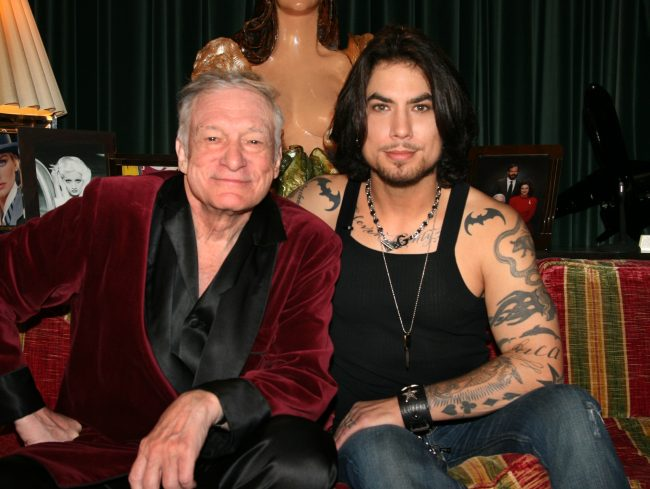 Hugh Hefner and Dave Navarro - Spread TV at the Playboy Mansion